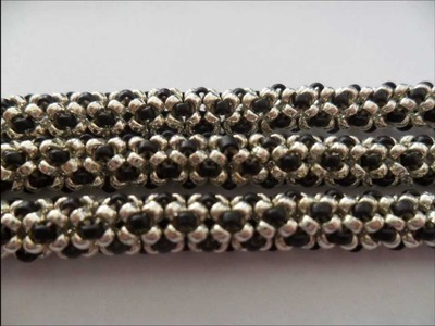 How to make this bracelet in chenille rope