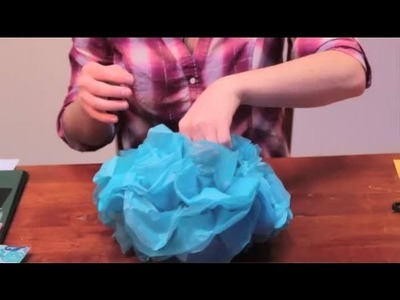 How to Make Tissue Paper Ball Decorations : Arts & Crafts