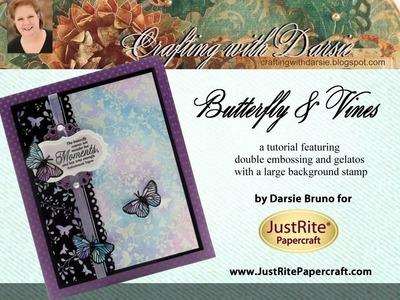 JustRite Papercraft Butterfly & Vines with Darsie Bruno
