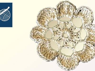 Left Hand Crochet - Flower Laurel - Thread Crochet Left Hand Crochet Geek