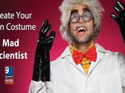 Mad Scientist Halloween DIY Costume by Goodwill Home Decor Expert Merri Cvetan