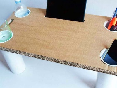 Make a Multipurpose Cardboard Bed Table  - Home - Guidecentral
