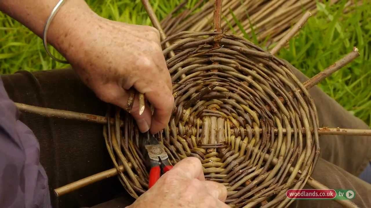 How To Make A Weave A Basket : Making willow baskets my crafts and diy projects