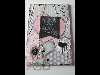 Mixed Media With Faber-Castell Design Memory Craft Textural Accents