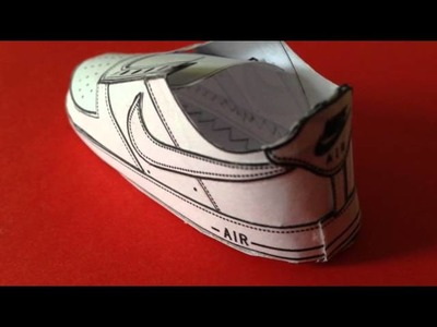 Nike Air Force 1 paper craft