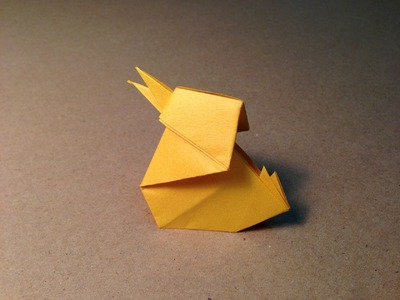 Origami Bird. Baby Chick. Instructions. Tutorial