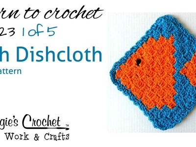 Part 1 of 5 Fish Dishcloth Right Handed Free Pattern #FP123