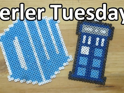 PERLER BEAD: TARDIS & Doctor Who Logo! (Giveaway #61) Tutorial & How To
