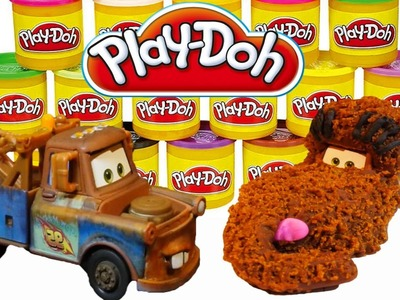 Play-Doh Sesame Street Snuffleupagus Disney Cars 2 Mater DIY Playdoh Tutorial!
