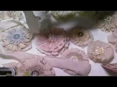 Tattered flower tutorial for Papercraft Star