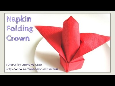 Thanksgiving Table Setting - How to Fold a Crown from a Napkin - DIY Napkin Folding - Restaurant