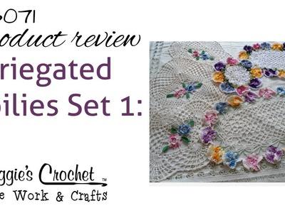 Variegated Doilies Crochet Pattern Set 1 Rose & Pansy PB071