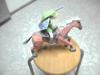 Zelda Epona and Link papercraft models