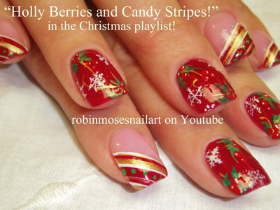 10 Nail Art Tutorials | DIY Easy Christmas Nail Art Designs | Holly - Candy - Snowflakes!