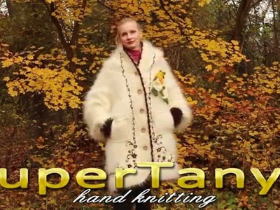28.11.2012 Hand knitted ivory fuzzy mohair coat by SuperTanya
