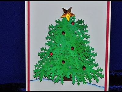 3D Christmas Tree Card Tutorial - Cricut Explore