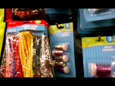 Arts and Crafts Section at Dollar Tree (Glitters)