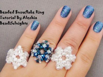 Beaded Snowflake Ring Tutorial