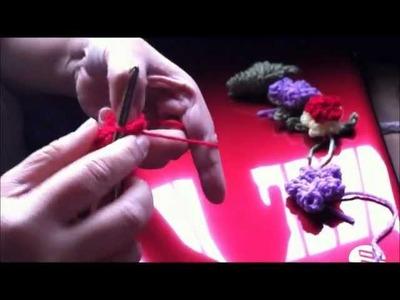 Beautiful Popcorn Stitch Crochet Flower 1 of 2