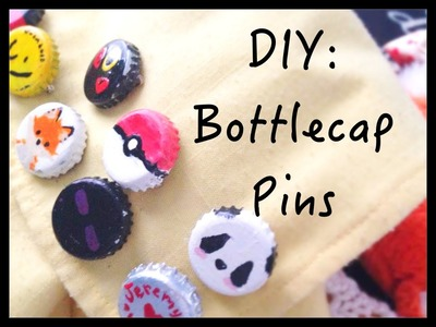 Bottle Cap Pins | Crafts with Taylor