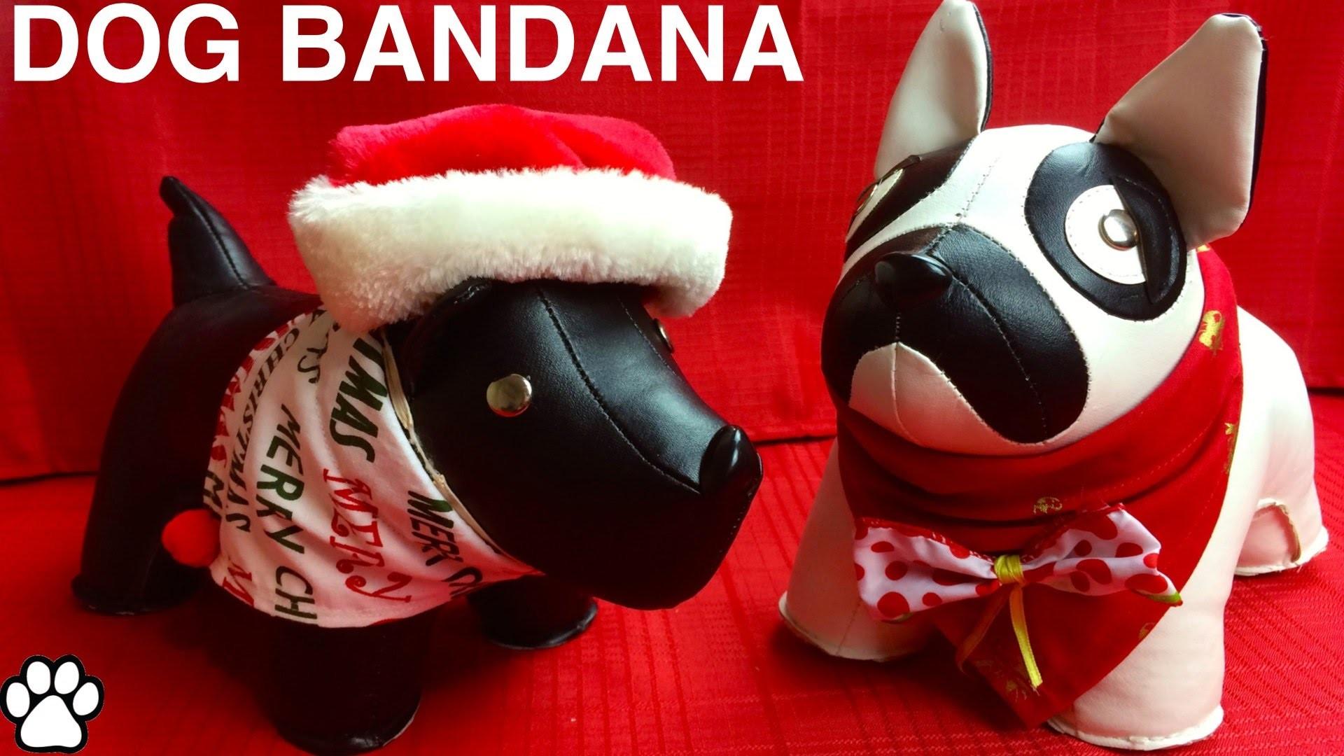 CHRISTMAS DOG BANDANA - XMAS FESTIVE SCARF - DIY Dog Craft by Cooking For Dogs
