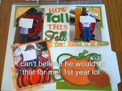 CM #123 - How Tall this Fall Scrapbook Layout (Pumpkin Patch)