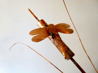 Copper Dragonfly On Cattail.How To .