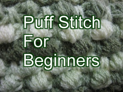 Crochet Puff Stitch - Left Handed Crochet Slow Motion Tutorial