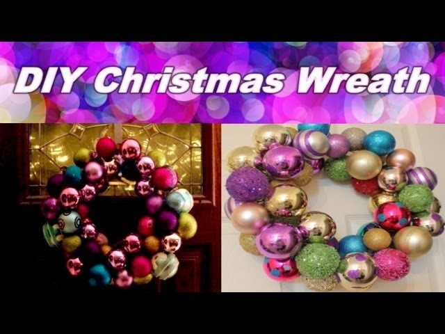 DIY Christmas Room Decor - Christmas Bulb Wreath