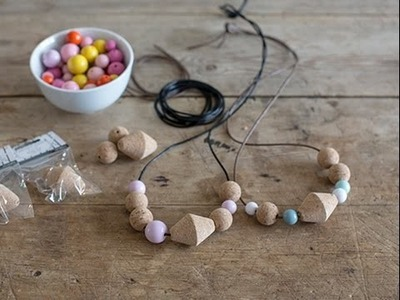 DIY - Create a personal necklace with cork beads