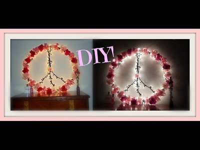 DIY: How To Make A Pinterest Peace Sign Out Of A Hula Hoop!