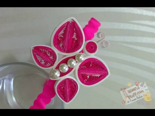 DIY - How to make Quilled paper hair band, Easy Butterfly quilling tutorial