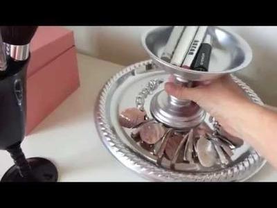 DIY Jewelry & Makeup holder tutorial, organizer
