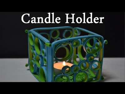 DIY Quilling Candle Holder - Tutorial 2 ( Portacandele ) - Quilling for beginners