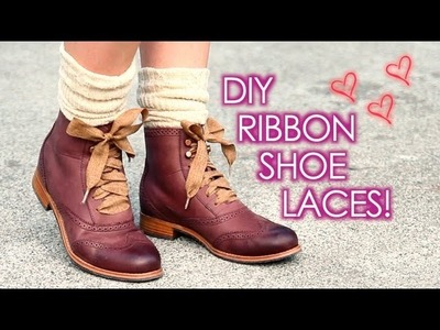 DIY Ribbon Shoe Laces: Cute + Easy!
