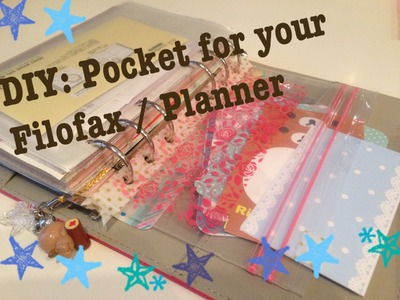 DIY Side Loading Pocket for your Filofax or Planner