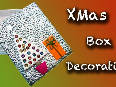 DIY Xmas Box Polymer clay Decoration - Decoración navideña