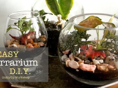 Easy DIY Glass Terrariums