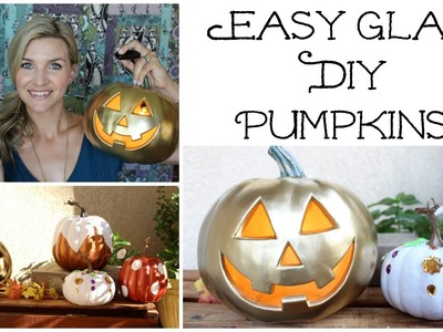 Easy Glam DIY Pumpkins