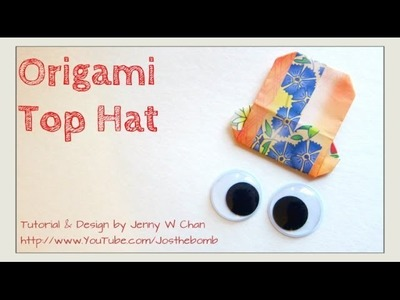 EASY Origami Hat - How to Fold Paper Hat - Father's Day Gift Crafts - Scrapbook. Card Idea