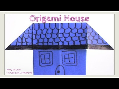 Easy Origami House - Simple Traditional Origami for Kids - Paper Crafts - How to Fold Origami