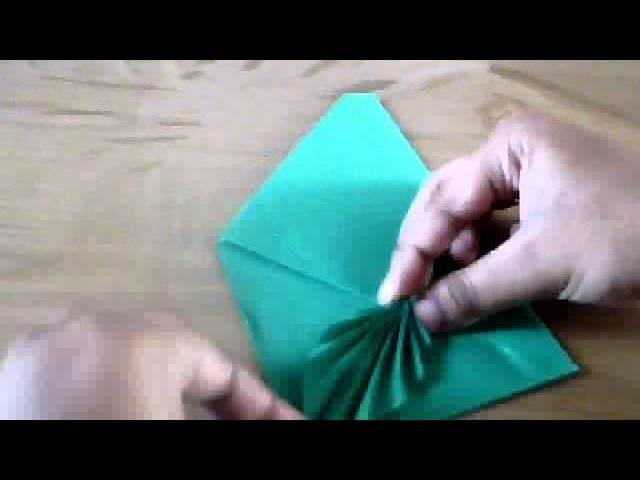 Easy origami leaf envelope!
