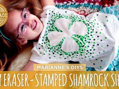 Eraser-Stamped Shamrock T-Shirt - HGTV Handmade