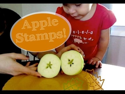 Fall Toddler Craft: Apple Stamps