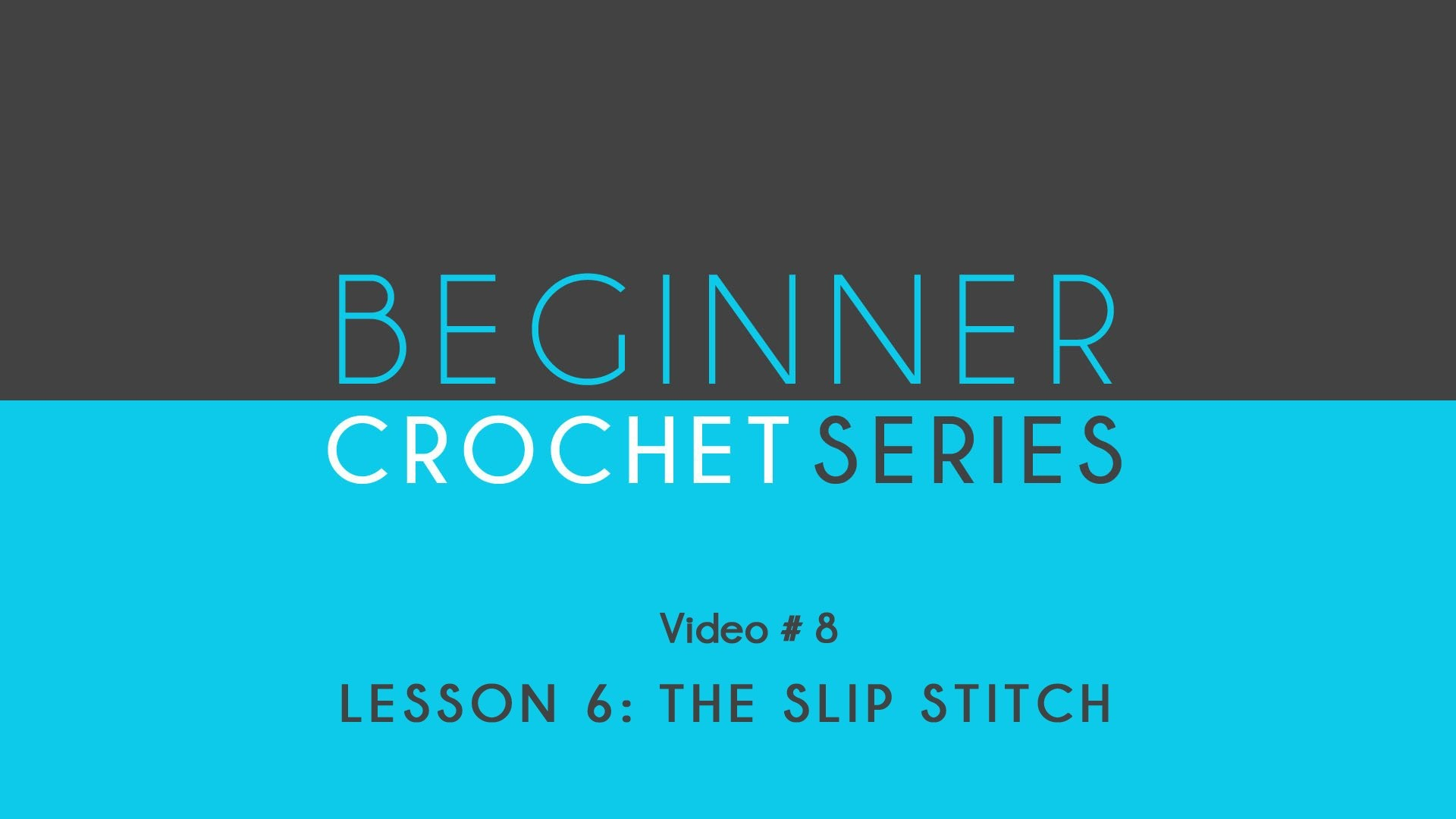 How to Crochet: Beginner Crochet Series Lesson 6 The Slip Stitch
