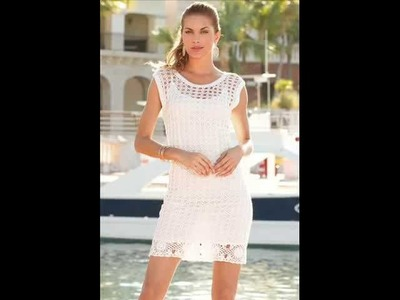 How to crochet summer beach dress free pattern