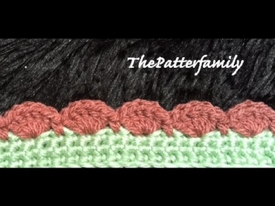 How to Crochet the Edge. Border. Trim Stitch Pattern #26 │ by ThePatterfamily