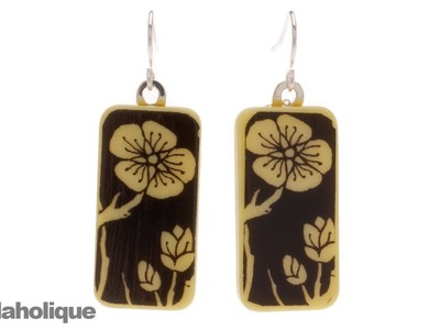 How to Make Domino Earrings Using Image Transfers and Aanraku Bails