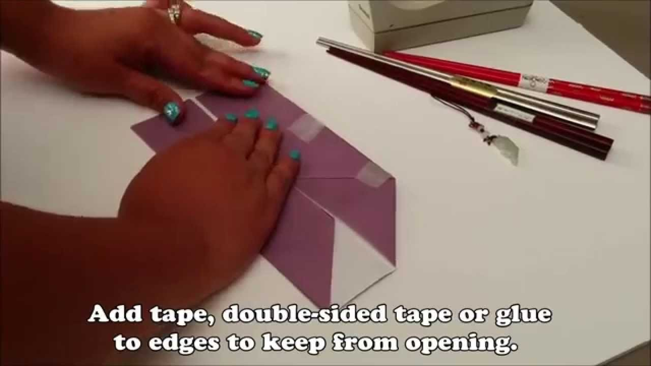 How to Make Origami Chopsticks Holder