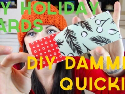 HOW TO MAKE RECYCLED HOLIDAY CARDS -- DIY, DAMMIT: QUICKIE!